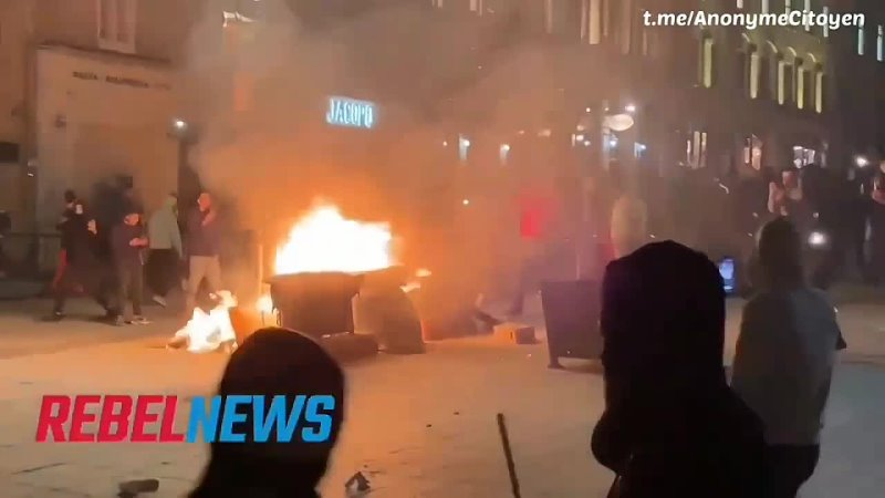 Émeutes à cause du couvre feu 🔥Нереди због 'законочуварског' часа 🇨🇦 Riots because of curfew 🗣️ Беспорядки из за комендантского