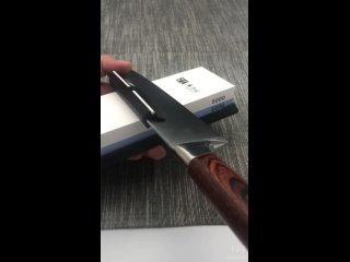 Зажим для равномерной заточки ножа (под углом 15°) с керамическими скользящими вставками