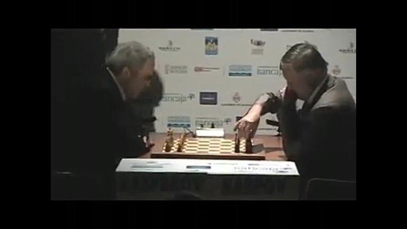 Match Kasparov vs Karpov day 1 20 Valencia 2009 360p