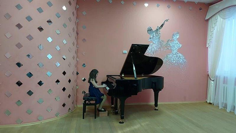 Экзамен по фортепиано за полугодие.