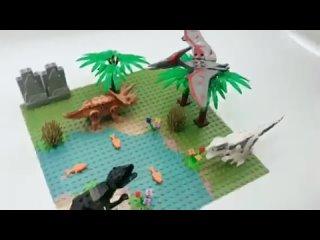 2020 новые динозавры, игрушки, кирпичи, пастбище, горная речка строительная пластина для строительных блоков, юрский мир, парк,