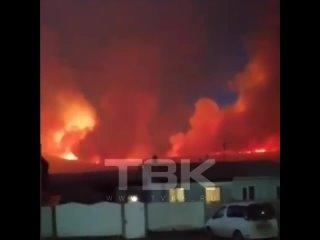 Жители села Быстрое сами вышли на борьбу с огнем, чтобы спасти свои дома