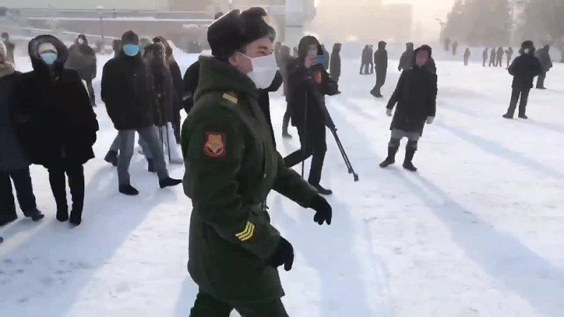 Экс-военный (а так же фейкового военного, а так же ряженого) и его извинения 31.01.2021 в Красноярске