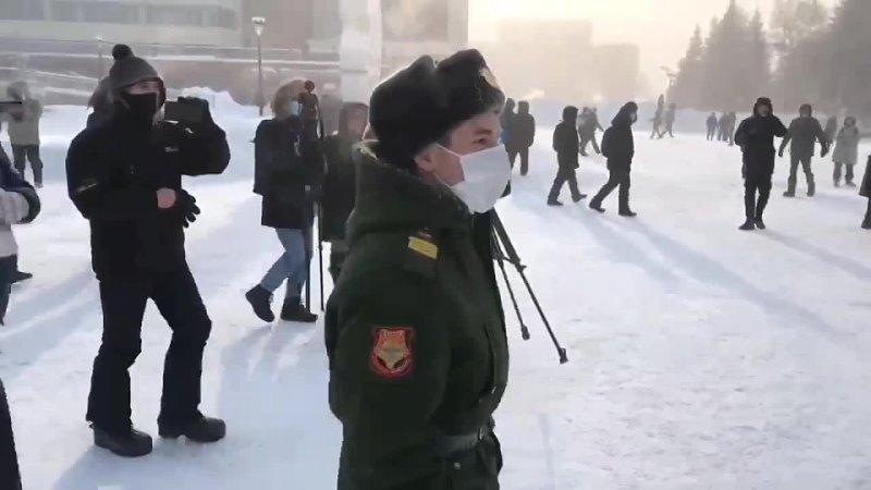 Ответ экс-военного (а так же фейкового военного, а так же ряженого) и его извинения 31.01.2021 в Красноярске