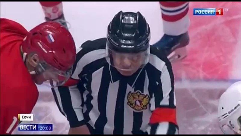 Путин снова сыграл в хоккей и забросил аж 8 шайб и отдал 1 результативную передачу