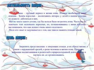 Презентация акция покорми птиц в подготов .группе.mp4