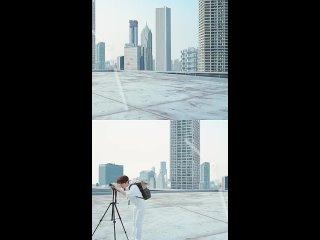 #ZhuYilong Знаю, что нельзя устоять перед очарованием солнца за окном.... Реклама L'Oreal Xiaojinguan