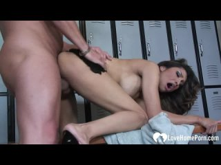 Sexy whore Nataly Rosa cum internal in the locker room (Latina, High Heels, Harcore, Creampie, Shave Pussy, HD Porn)