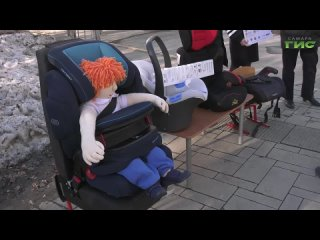 Сотрудники ГИБДД напомнили водителям, как правильно перевозить детей в автомобиле