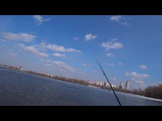 Спасение ребенка со льдины на спиннинг. Рыбалка в Киеве