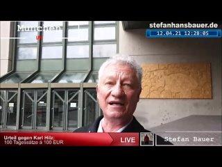 Urteil zu Karl Hilz  Eu Geldstrafe (=100 Tagessätze je 100 Euro) bedeutet VORBESTRAFT!)