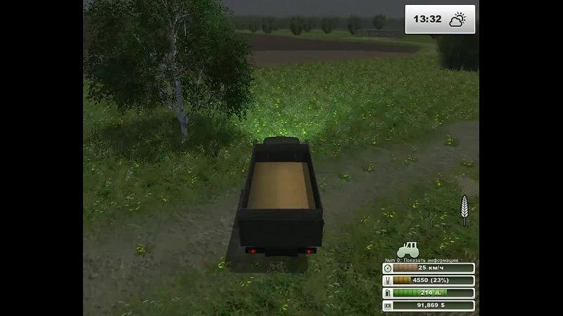 Андрей Языков Farming Simulator 2013 Вести с полей колхоз Рассвет Хасапетовка ч 3