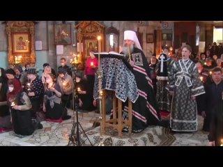 Митрополит Кирилл читает канона Андрей Критского в Челнах