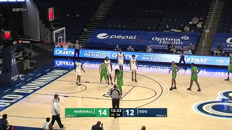 NCAAM 20210205 Marshall vs Old Dominion