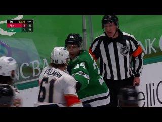 Riley Stillman vs Denis Gurianov fight Dallas Stars vs Florida Panthers (2021 NHL)