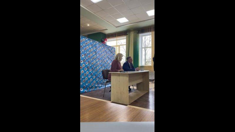 Встреча совета старшеклассников с Владимиром Ивановичем Солдатенковым