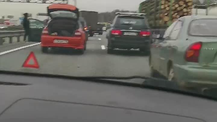 Массовое ДТП на Мурманском шоссе