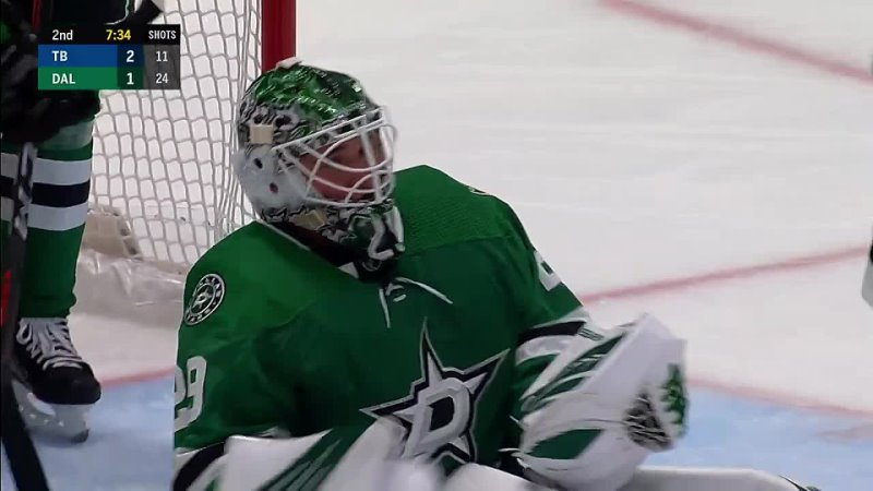 GOTTA SEE IT_ Jake Oettinger Makes Incredible Point Blank Paddle Save On Ondrej Palat