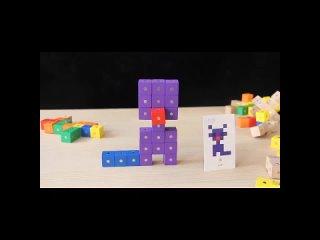 Математическая обучающая помощь три вида, магнитные шестигранные сборочные деревянные строительные блоки diy, развивающие
