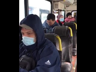 В Усть-Каменогорске проверили наличие масок у пассажиров автобусов