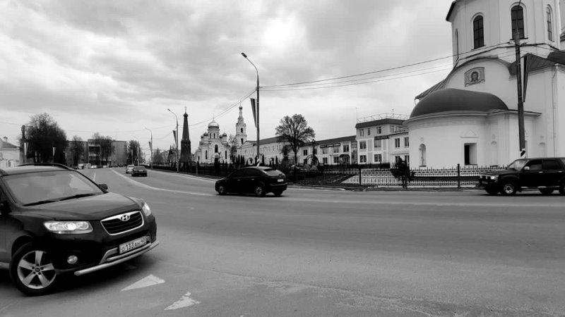 Апрель Вид на центр города