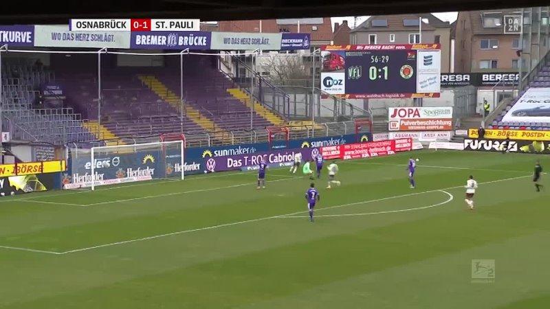 • 26 Spieltag VfL Osnabrück 12 FC St. Pauli 21032021