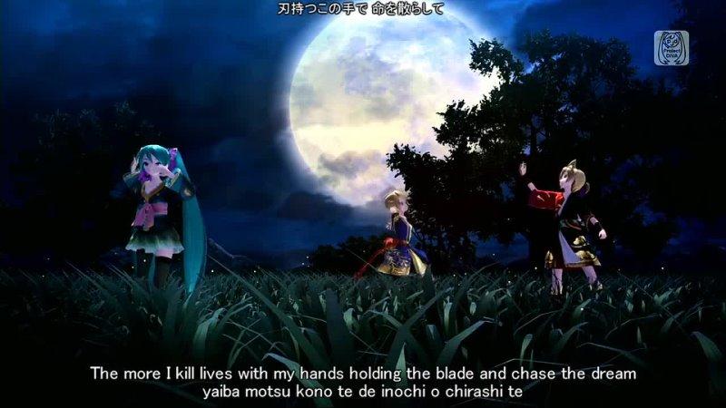[1080P Full風] Knife ナイフ - Hatsune Miku Kagamine Rin Len 初音ミク 鏡音リン レン Project DIVA English Romaji