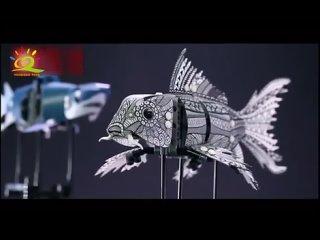 Huiqibao 4 шт. diy техника морских животных koi fish модель строительные блоки гараж детские развивающие кирпичи игрушки подарок