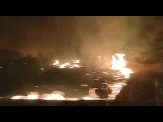 Поездка через масштабный лесной пожар (Патагония, Аргентина, )