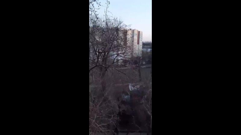 Обстрел окраин прифронтового Киевского района Донецка из тяжелого вооружения