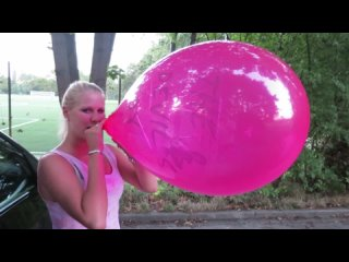Anna: Pop of the pink balloon with my car