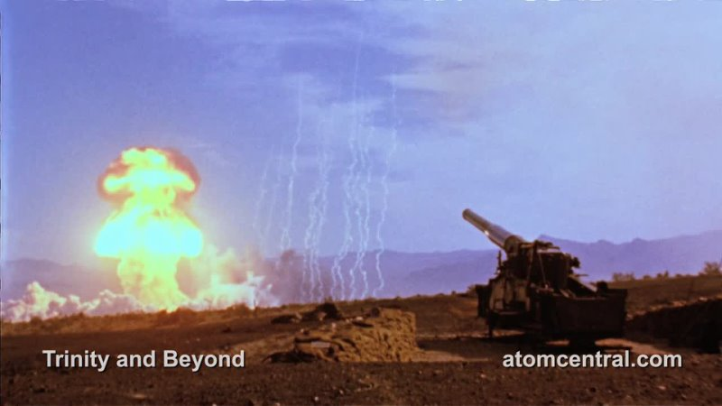 Атомный заряд для артиллерийского орудия. Воздействие поражающих факторов ядерного взрыва.
