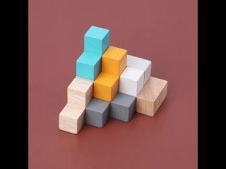 Детские diy пазлы монтессори, деревянная игрушка, многофункциональные игрушки, шахматы, домино, познавательная игра, 3d
