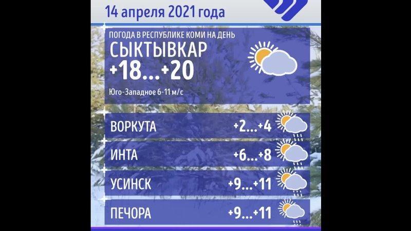 Погода в Коми 14 апреля 2021