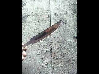 одна из проверок якутского клинка