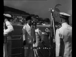 Mussolini e Von Blomberg a bordo della Duca d'Aosta assistono alle esercitazioni della Marina🤚🏻🖤