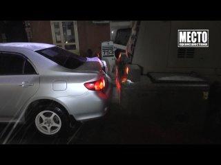 Снегоуборщик протаранил Тойоту Камри, ул. Ленина. Место происшествия
