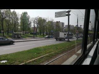 Еду на 36 трамвае в сторону Стрельны. Санкт-Петербург.