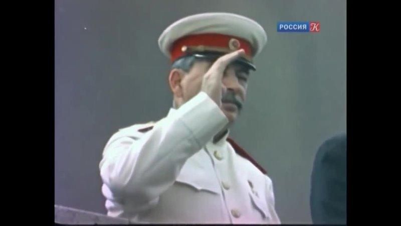 Москва майская. (HD) Подлинный вариант песни 1937 года со Сталиным