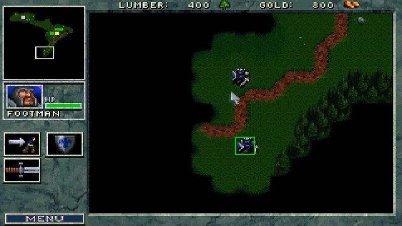 Warcraft Orcs Humans PC DOS 1994 Blizzard Roland SCC 1 SB