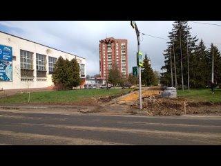 1063, , Орёл, Приборостроительная, завод Приборов, разбитые стёкла, ремонт тротуара, остановка, бордюры, фонтан, Утёс