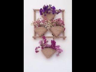 Ещё один способов применения джутовой верёвки в декоре