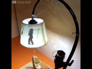 Самодельный светильник - оригинальная работа -