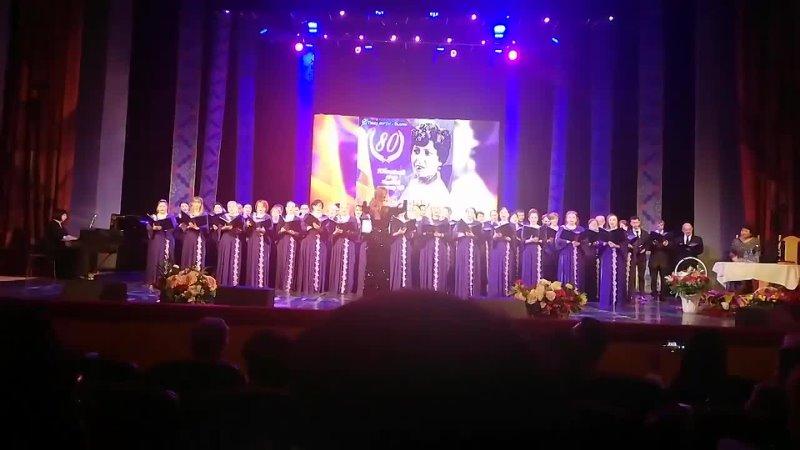 Видеоотрывок с юбилейного концерта народной артистки РФ Асият Кумратовой 2
