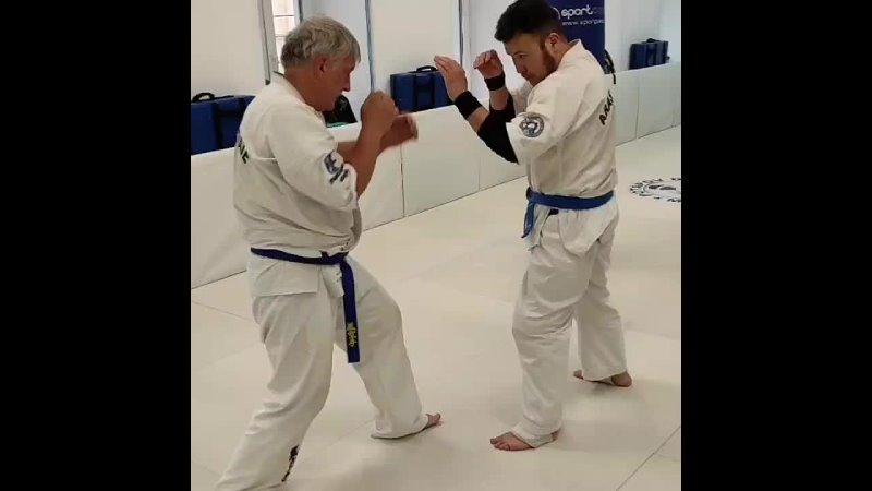 5D 5 Q technique ARASHI KARATE O Goshi Большой бросок от бедра