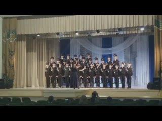 """Хор кадет на выступлении в Дворце культуры """"Юность"""""""
