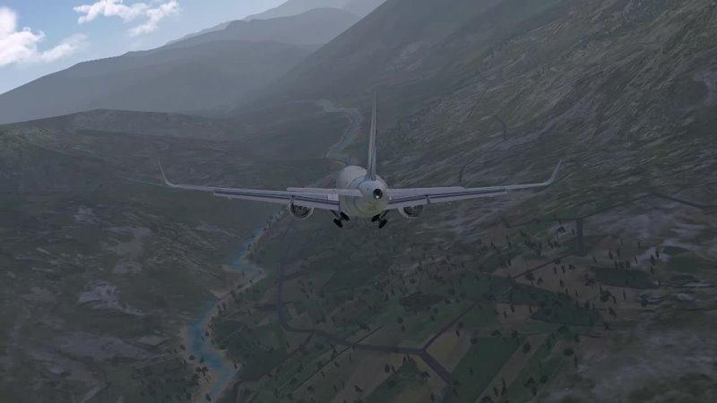 Посадка на полосу 15 Паро Бутан