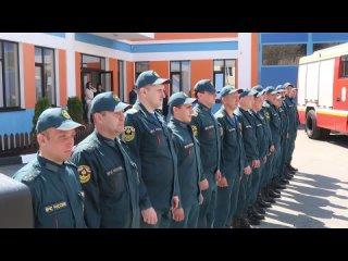 Открытие памятника начальнику пожарной части  №36 Сердюкову А.Ф.