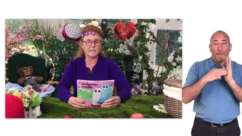 Sarah Ferguson reading Me And My Asthma by Angela and Charles Davis