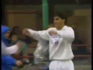 1990 год. Сборная мира vs Бразилия. Гол Мичела